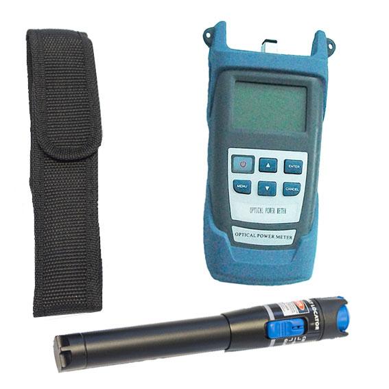 laser y medidor fibra