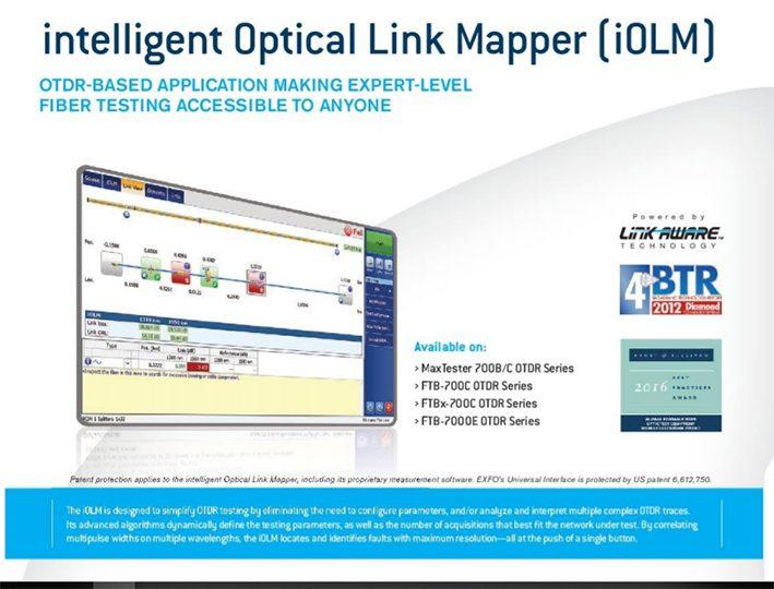 OTDR EXFO INTELLIGENCE OPTICAL LINK MAPPER